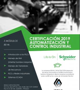 Certificación en Automatización y Control Industrial – Schneider Electric 2019-2