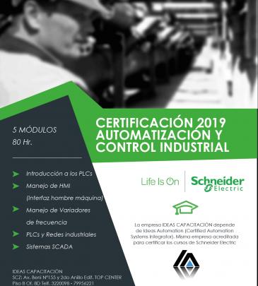 Certificación en Automatización y Control Industrial – Schneider Electric 2019-3