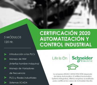 Certificación en Automatización y Control Industrial – Schneider Electric 2020-6