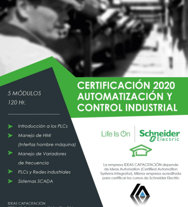 Certificación en Automatización y Control Industrial – Schneider Electric 2020-5